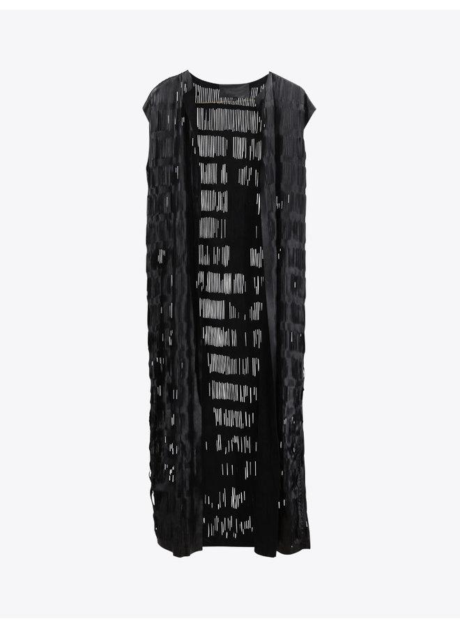 Maxi Leather Vest in Black