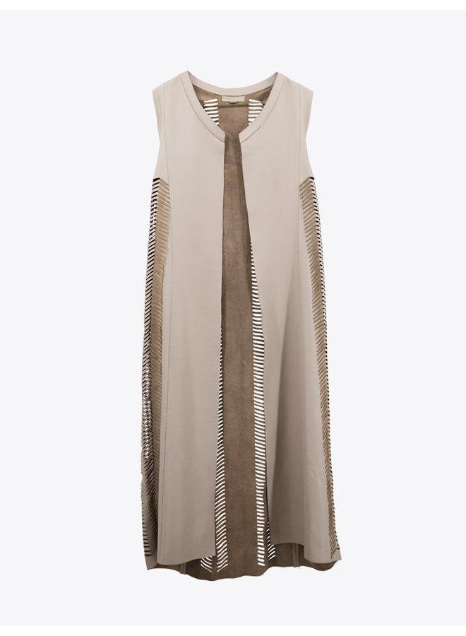 Fishscale Vest  in Beige