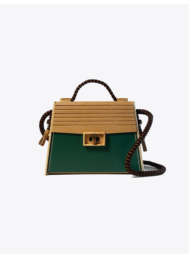 The BOSSA Eco Bag Green & Brown