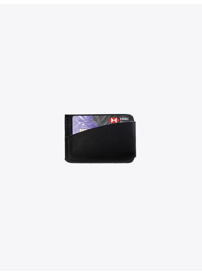 Leather Card Holder in Black