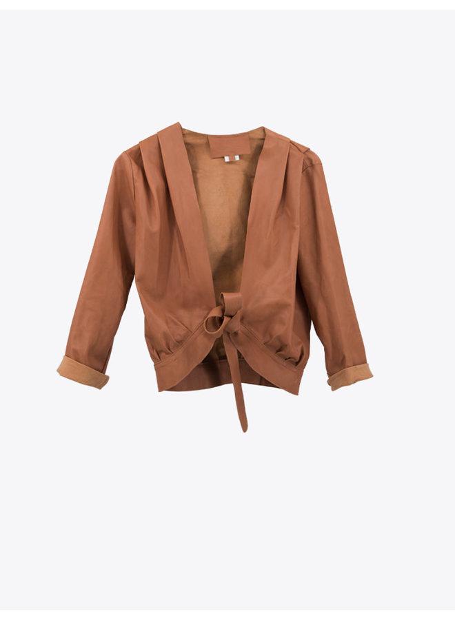 Wrap Leather Jacket