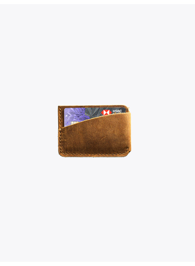 Leather Card Holder in Tobacco