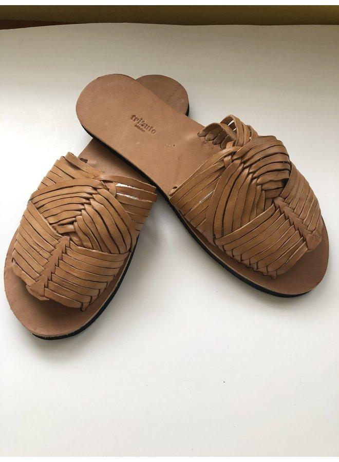 Huarache Sandal in Camel