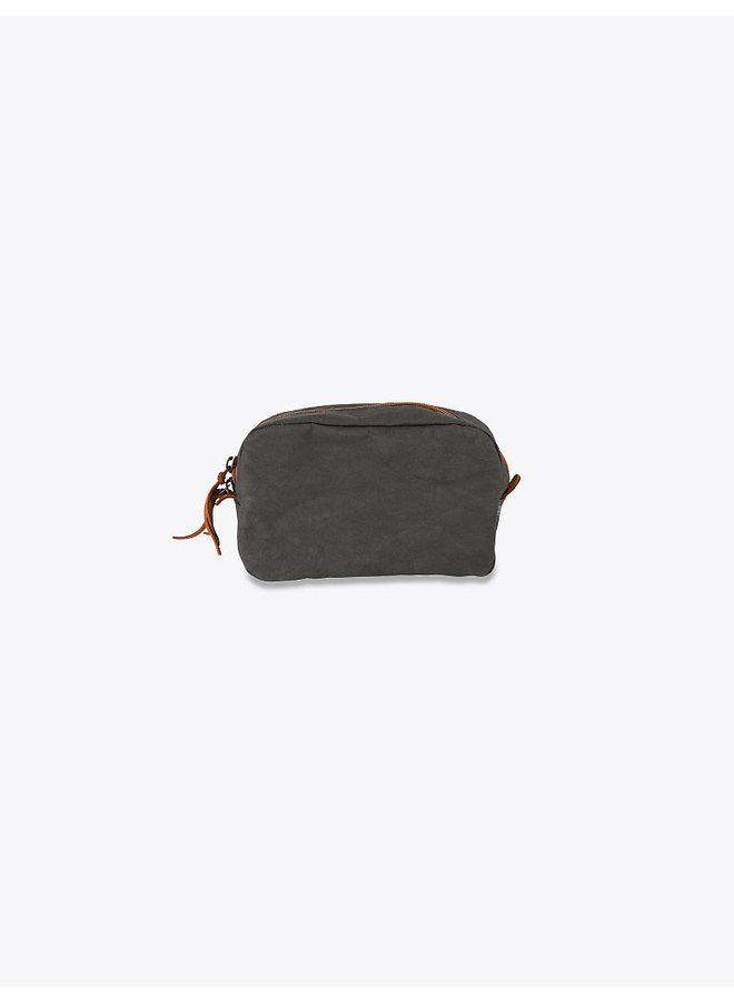 Washable Paper Beauty Case in Dark Grey
