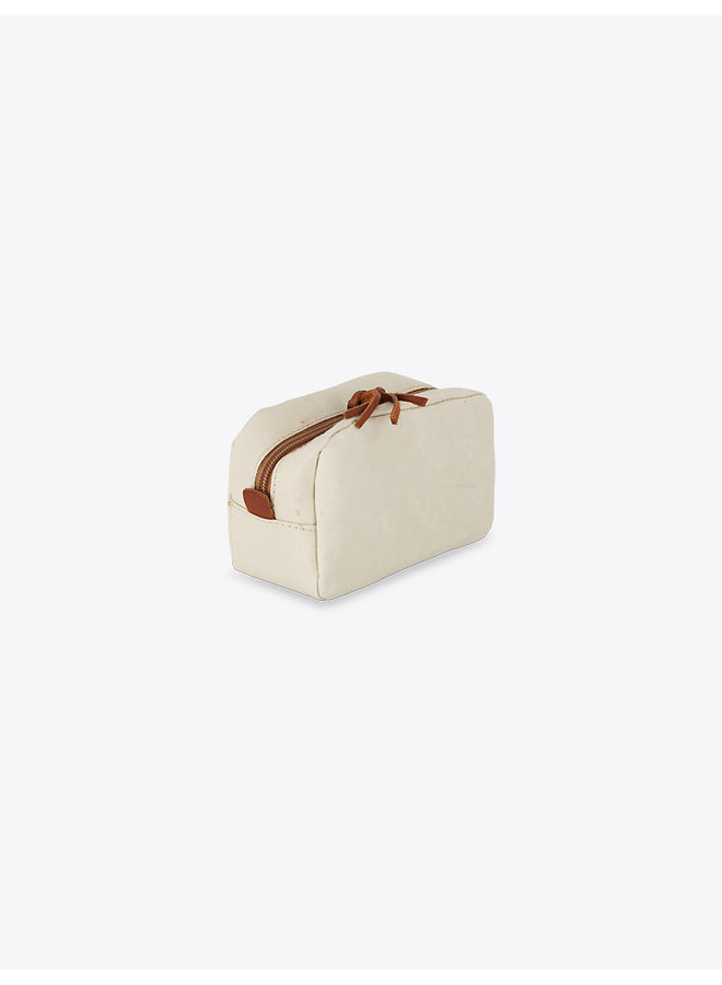 Washable Paper Beauty Case in Camel