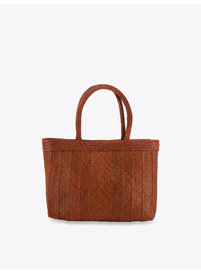 Rectangular Rafia Bag in Brown