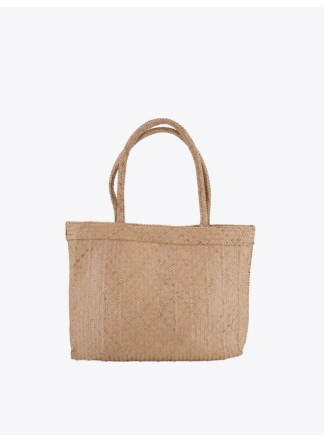 Rectangular Rafia Bag in Natural