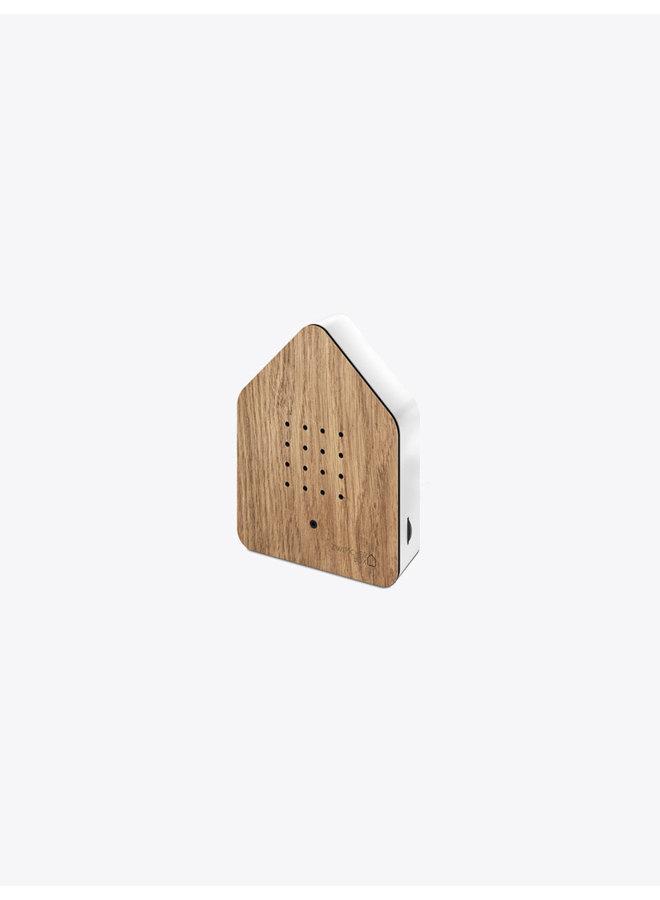 Zwitscher Bird Box in Oak & White