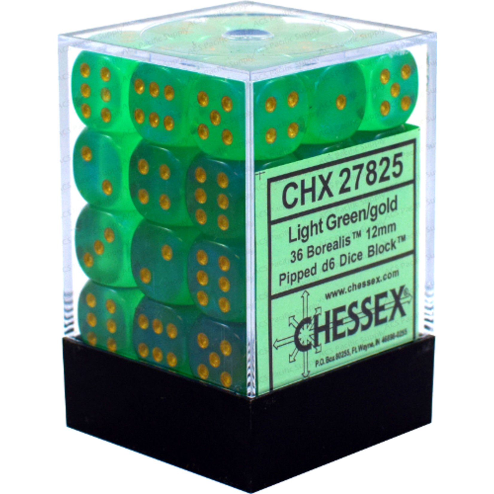 CHX 27825 Borealis Light Green/ Gold (36 count)