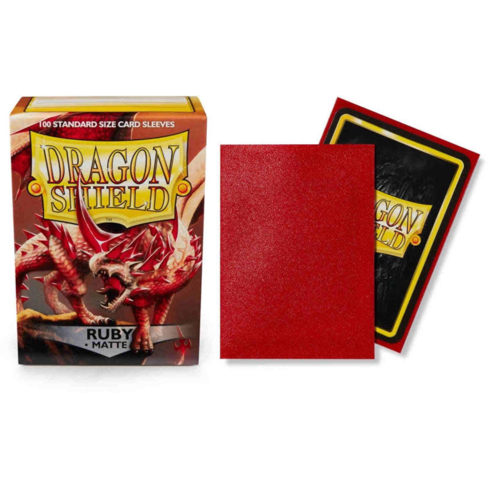 Dragon Shield Matte Ruby (100 count) Standard