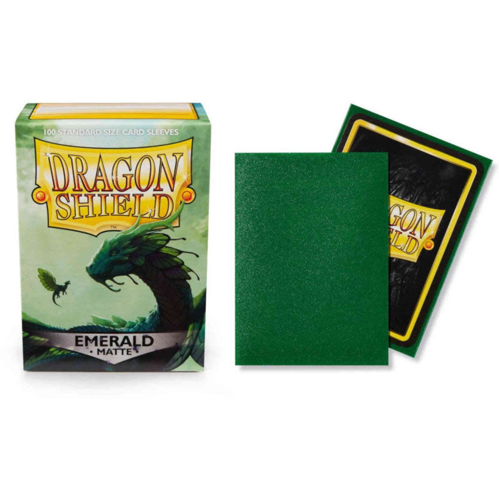 Dragon Shield Matte Emerald (100 count) Standard