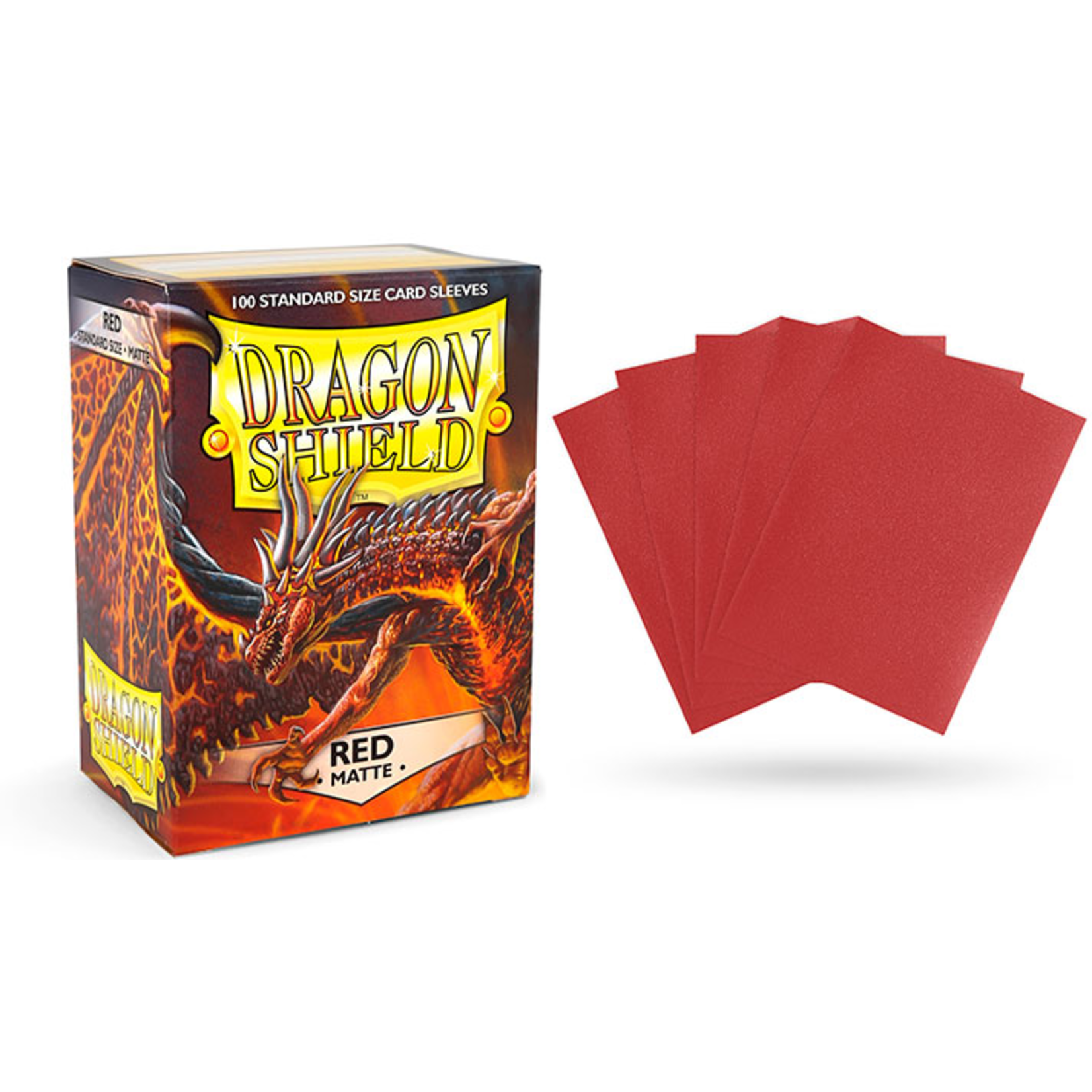 Dragon Shield Matte Red (100 count) Standard