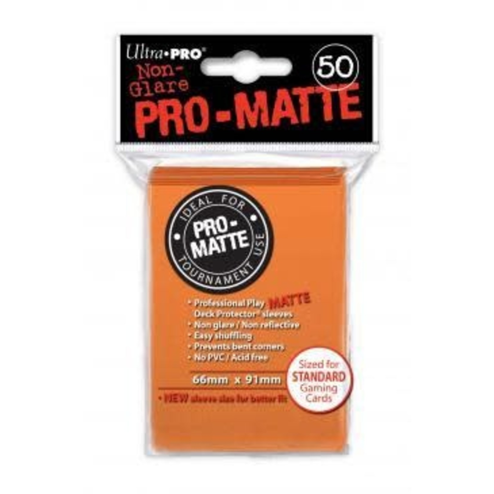 Ultra Pro Matte Orange (50 count) Sleeves
