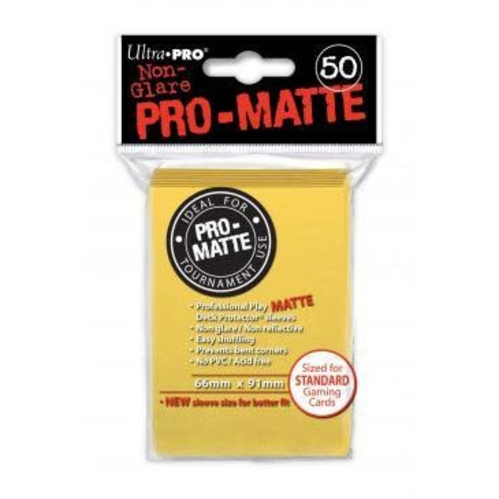 Ultra Pro Matte Yellow (50 count) Sleeves