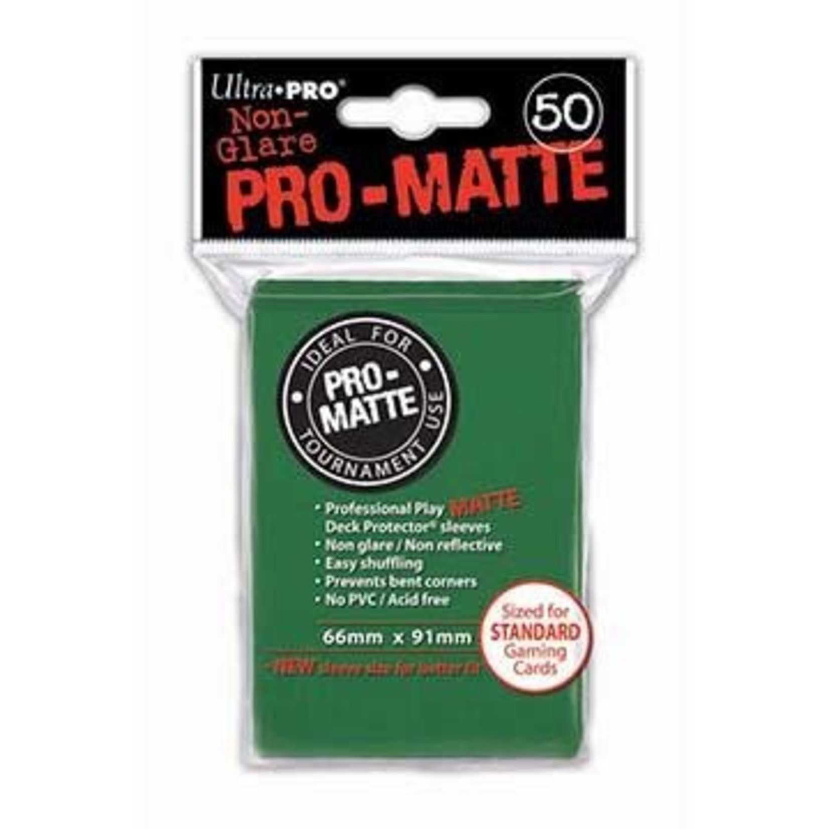 Ultra Pro Matte Green (50 count) Sleeves