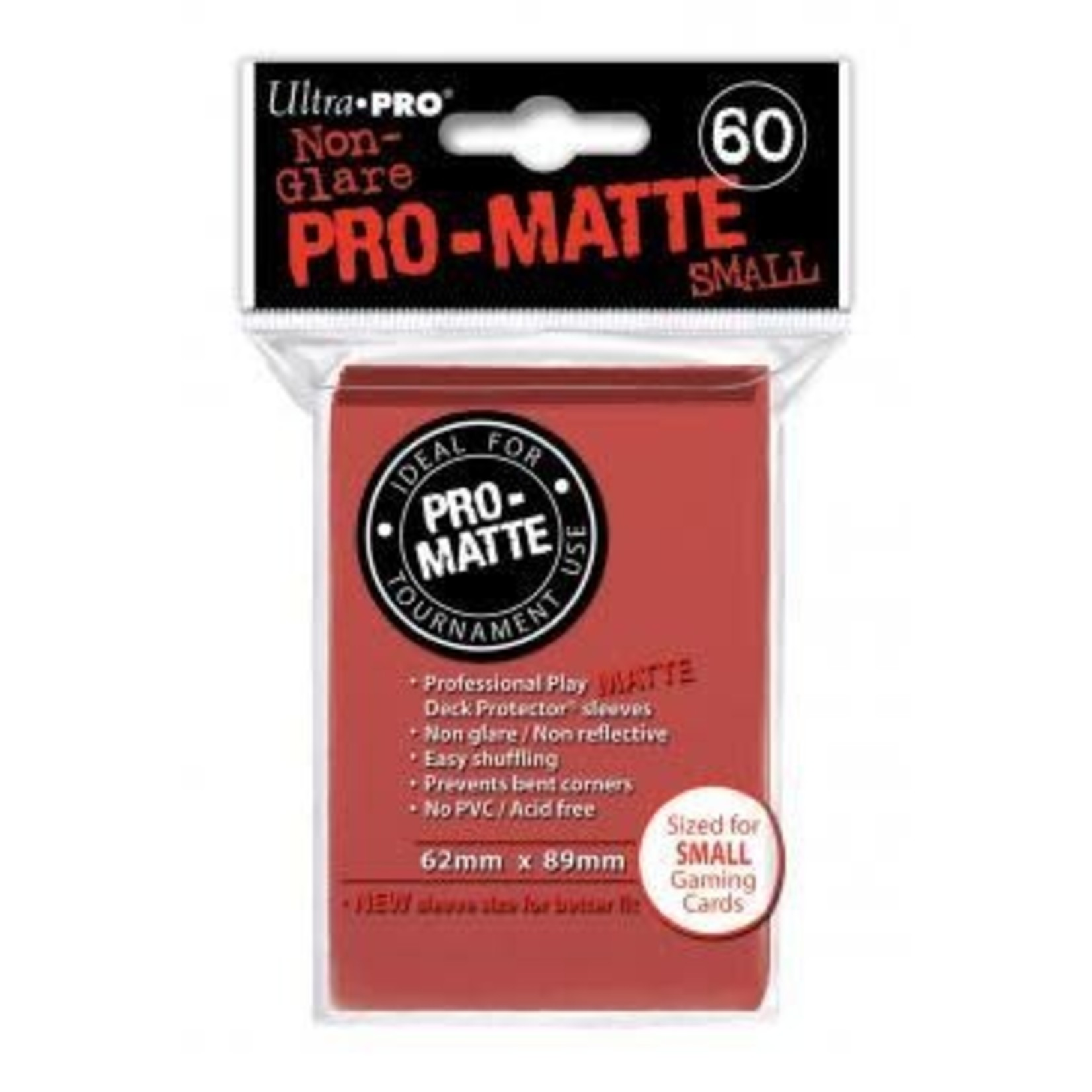 Ultra Pro Matte Red (60 count) Small Sleeves