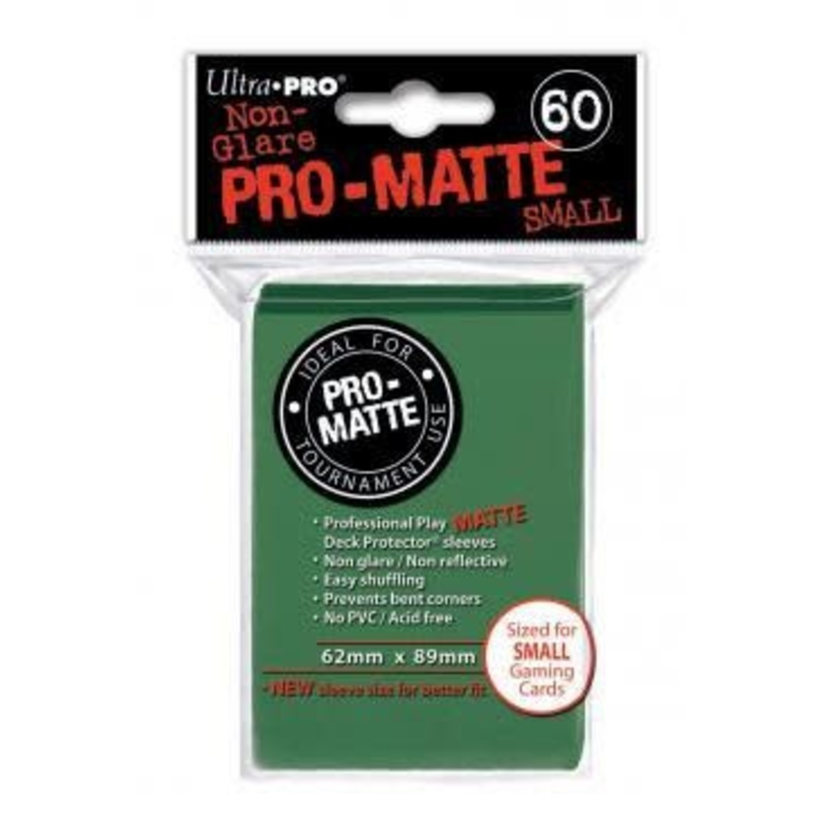 Ultra Pro Matte Green (60 count) Small Sleeves