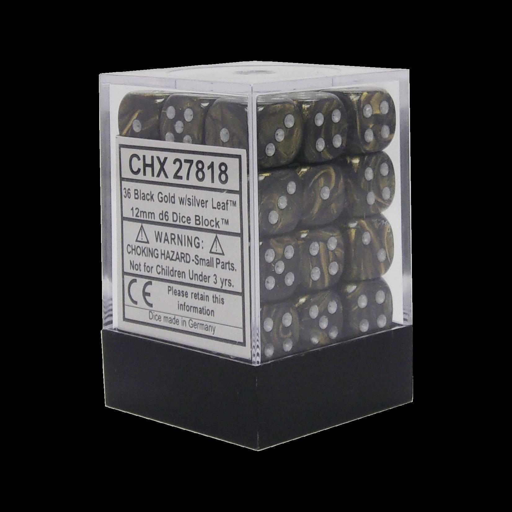 CHX 27818 Leaf Black Gold/Silver (36 count)