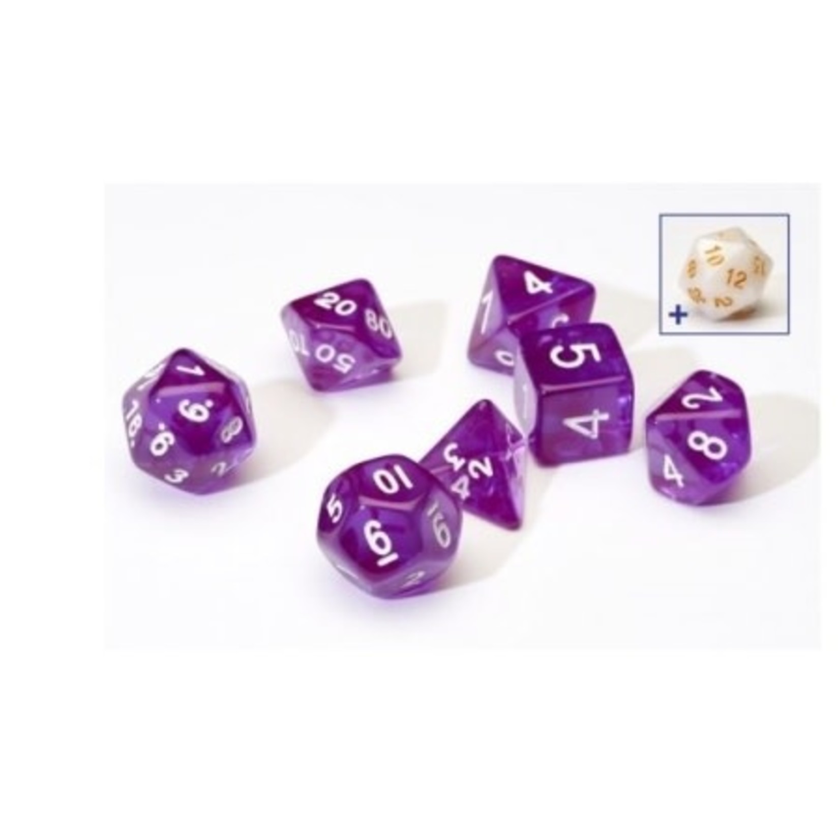 Sirius Dice Opaque Pearl Blue (8 piece)