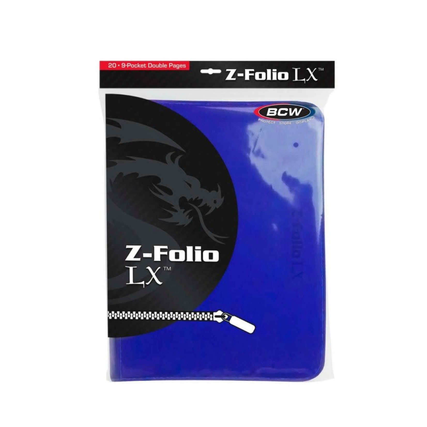Blue 9 Pocket Zipfolio Binder