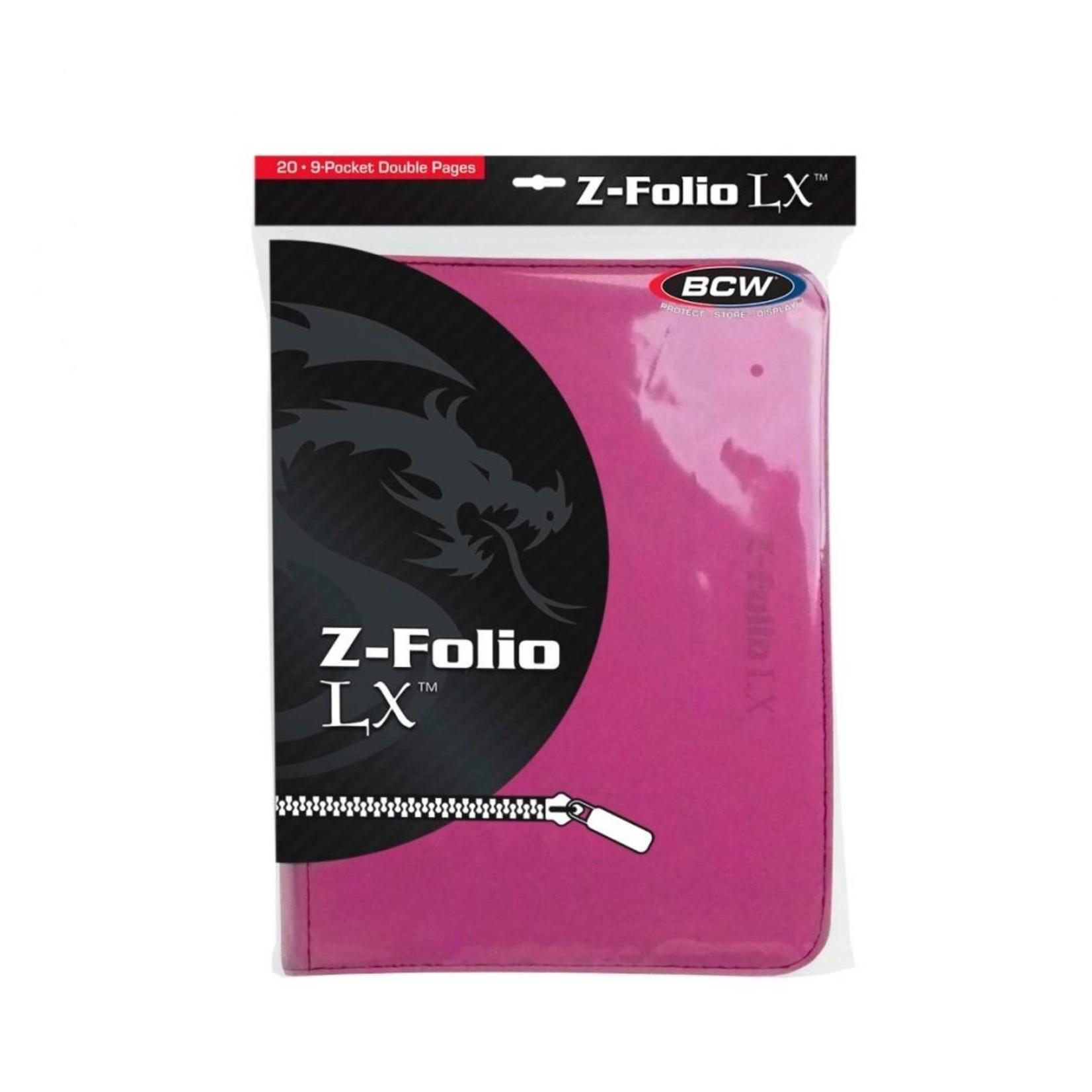Pink 9 Pocket Zipfolio Binder