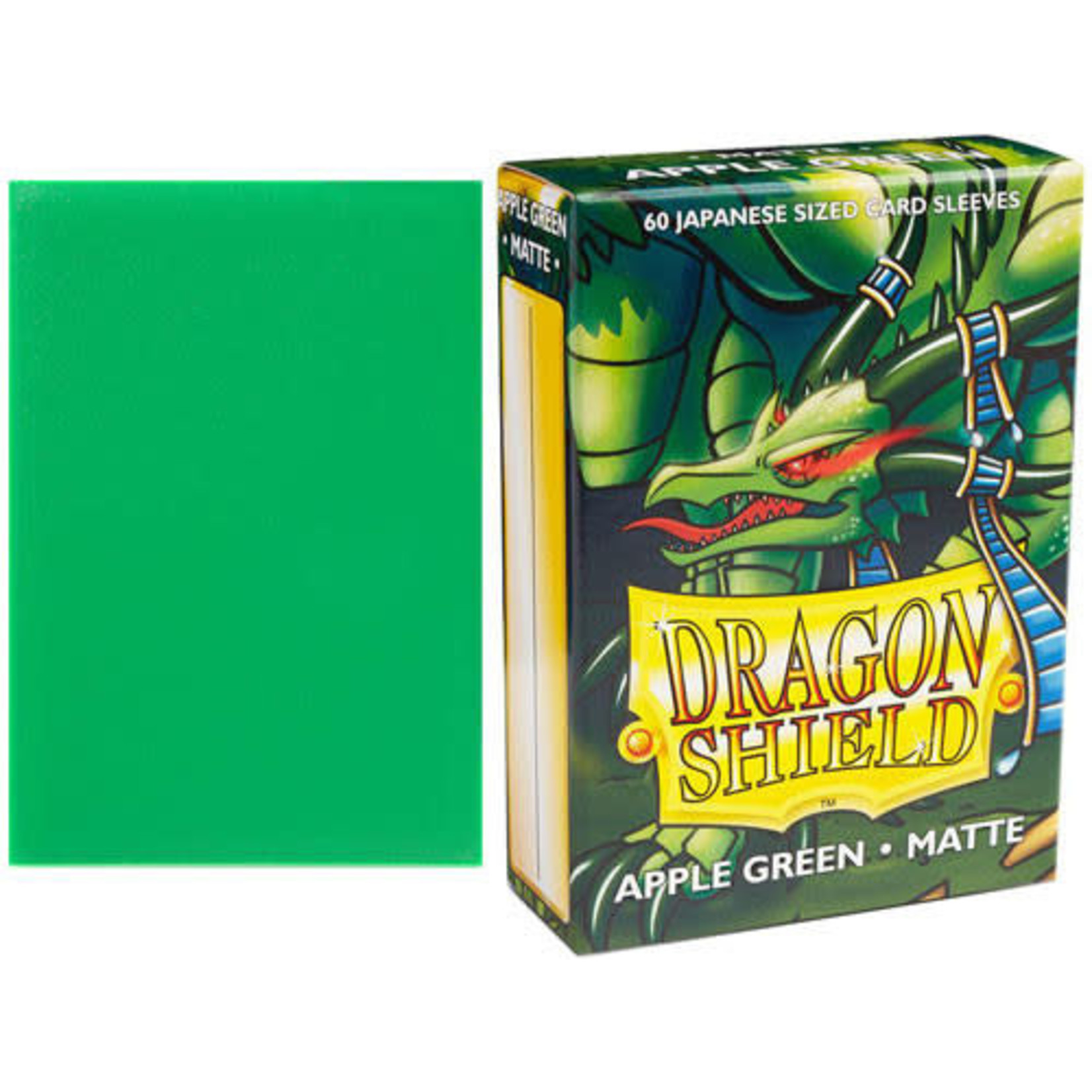 Dragon Shield Matte Apple Green (60 count) Small