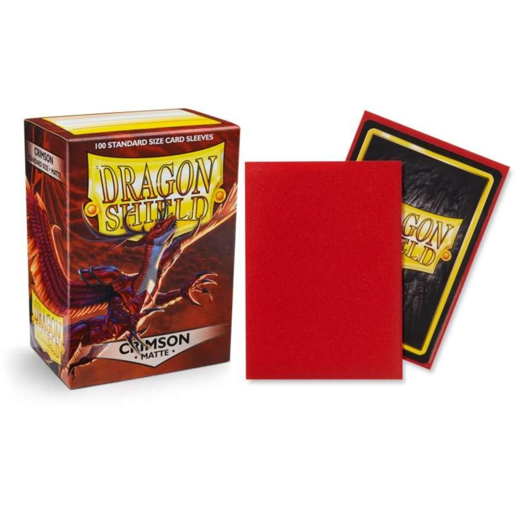 Dragon Shield Matte Crimson (100 count) Standard
