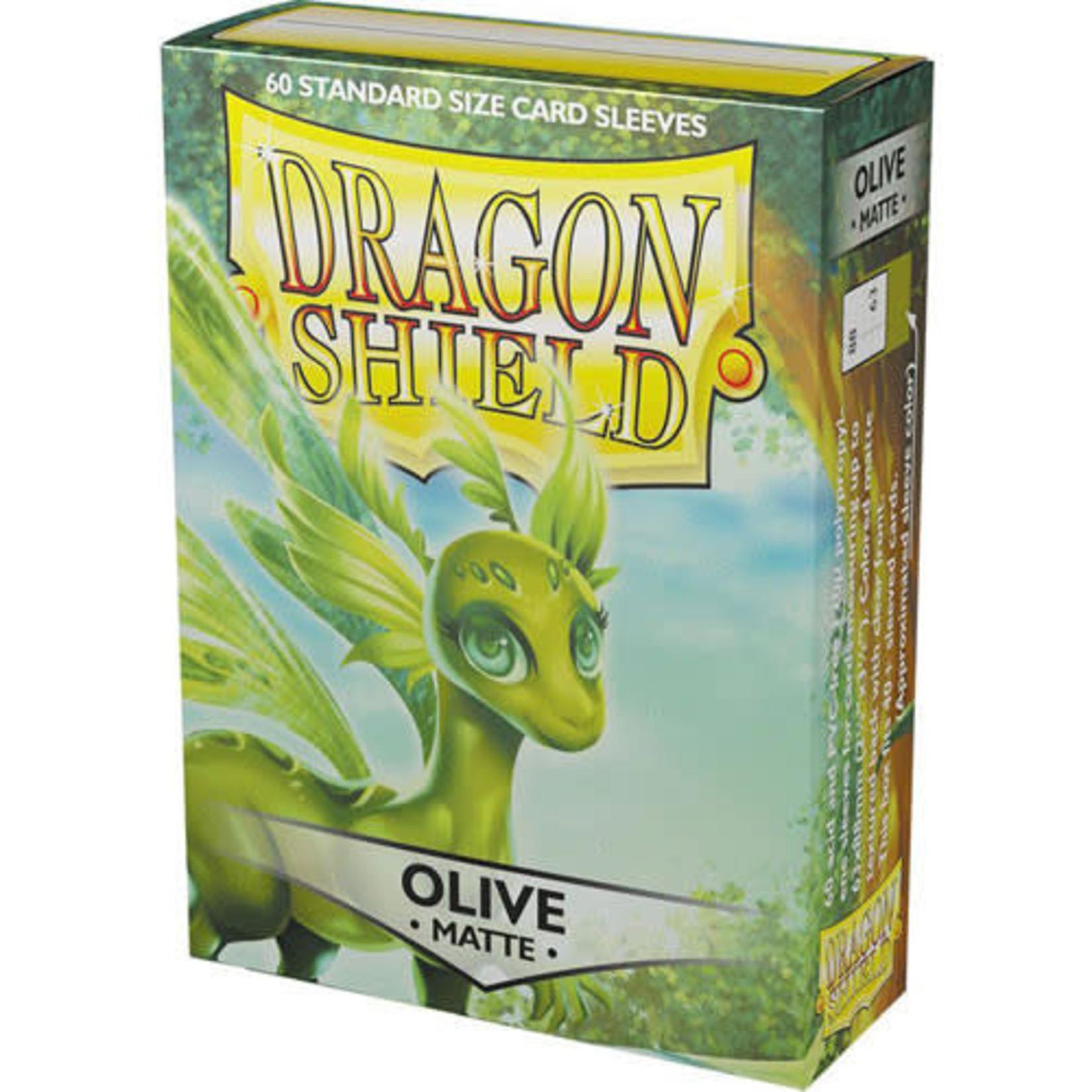 Dragon Shield Matte Olive (60 count) Small