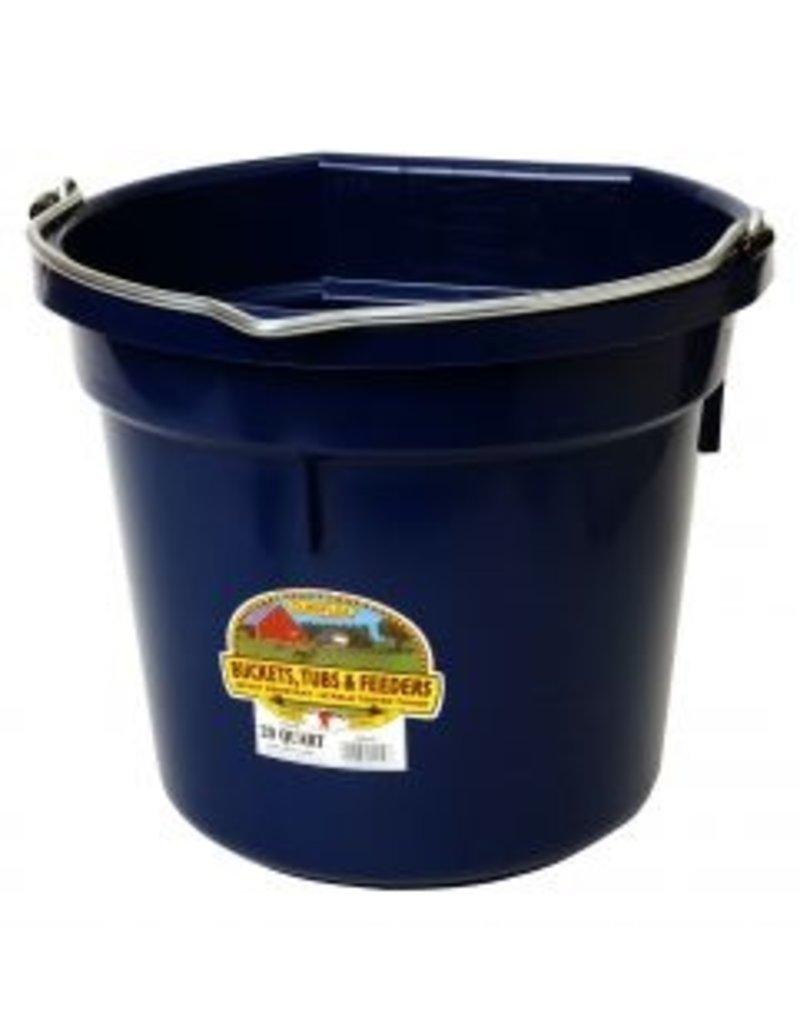 Miller Flat Back Plastic Bucket