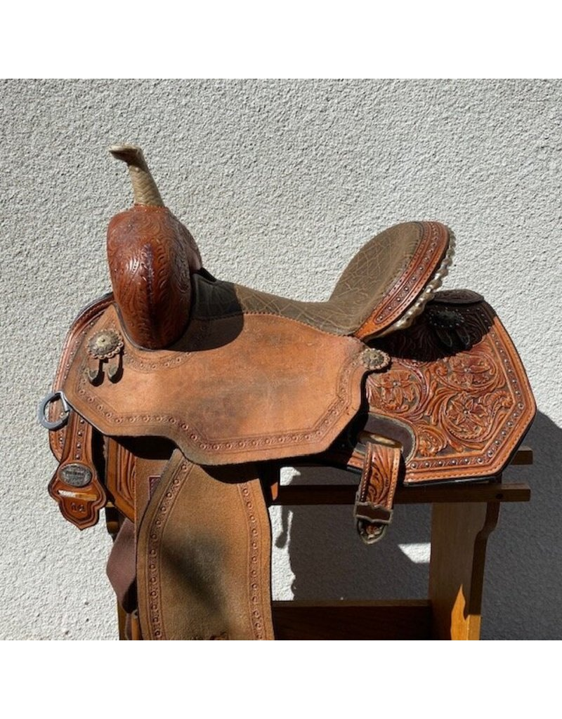 "Josey Ultimate Revolution Flex2 Barrel Saddle by Circle Y 14"" FQHB"