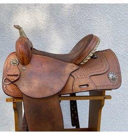 "Valley Head Circle M Barrel Saddle 15""  Full Quarter Horse Bars"