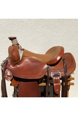 "Custom Morrison Roping Saddle 16"" Full Quarter Horse Bars"