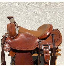 """Custom Morrison Roping Saddle 17"""" Full Quarter Horse Bars"""
