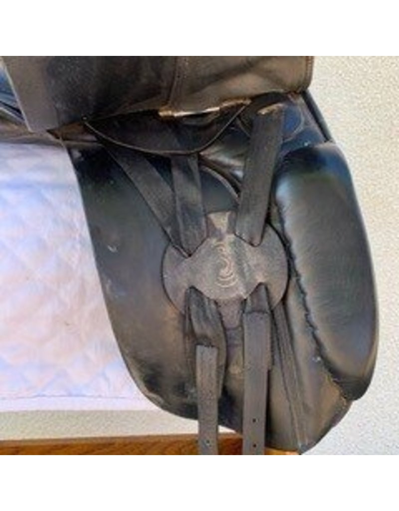 "Sorrano Dressage Saddle 17.5"" Seat Wide Tree"