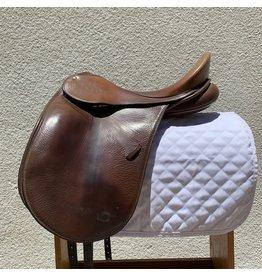 """Schleese Brown Dressage Saddle 17.5"""" MED Tree"""
