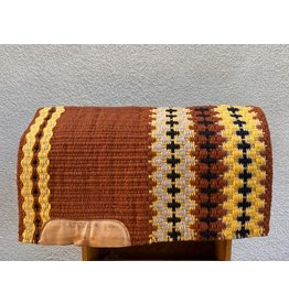 Custom Show/Reining Pad by The Slide Shop 32x41 Browns & Yellows
