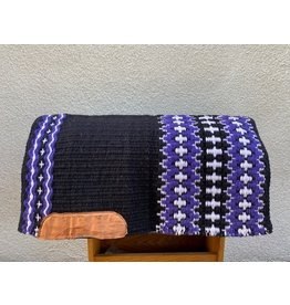 Custom Show/Reining Pad by The Slide Shop 34x38 Black Purple & White
