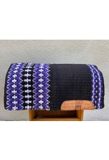 Slide Shop Custom Show/Reining Pad 34x38 Black Purple & White