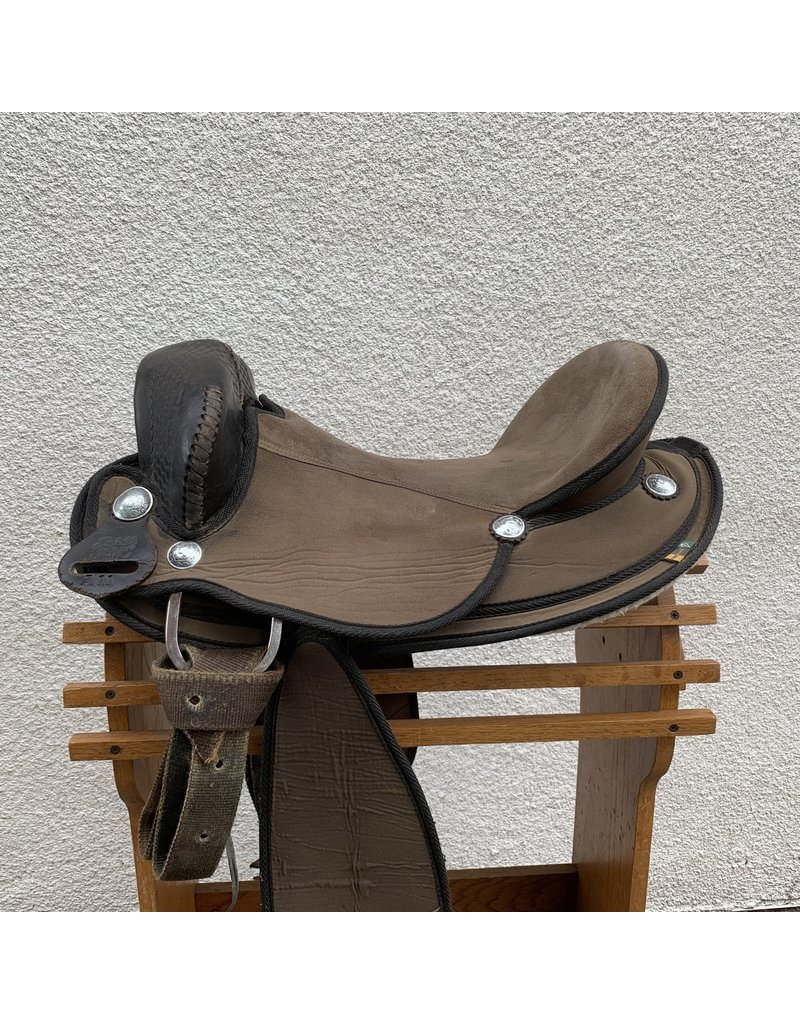 "Synthetic Endurance Saddle by Bridle Pro Brazil 16"" Full Quarter Horse Bars"