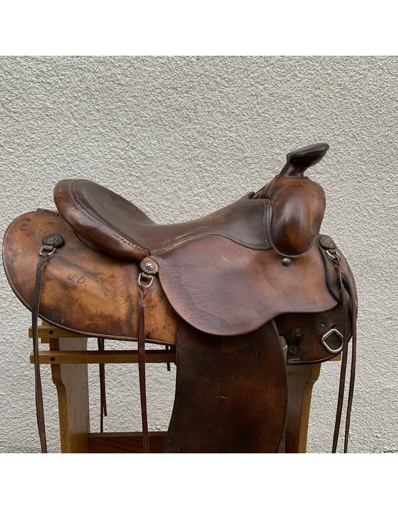"Trail Saddle by Gary McClintock 16.5"" Wide Tree"