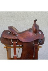 "Circle Y Betty Gayle Cooper All Around Roper Saddle 15"" Full Quarter Horse Bars"