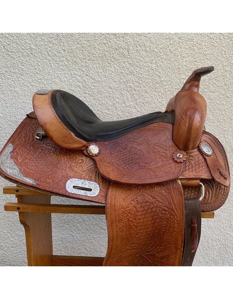 """H & H Saddlery Trail Saddle 15"""" Full Quarter horse Bars"""