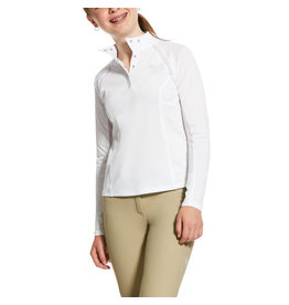 Ariat Girls Sunstopper 2.0 1/4 Zip Show Shirt Long Sleeve