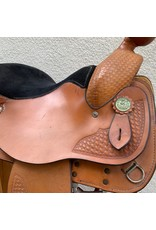 "Circle Y Park and Trail Light Oil 16"" Seat Semi Quarter Horse Bars"