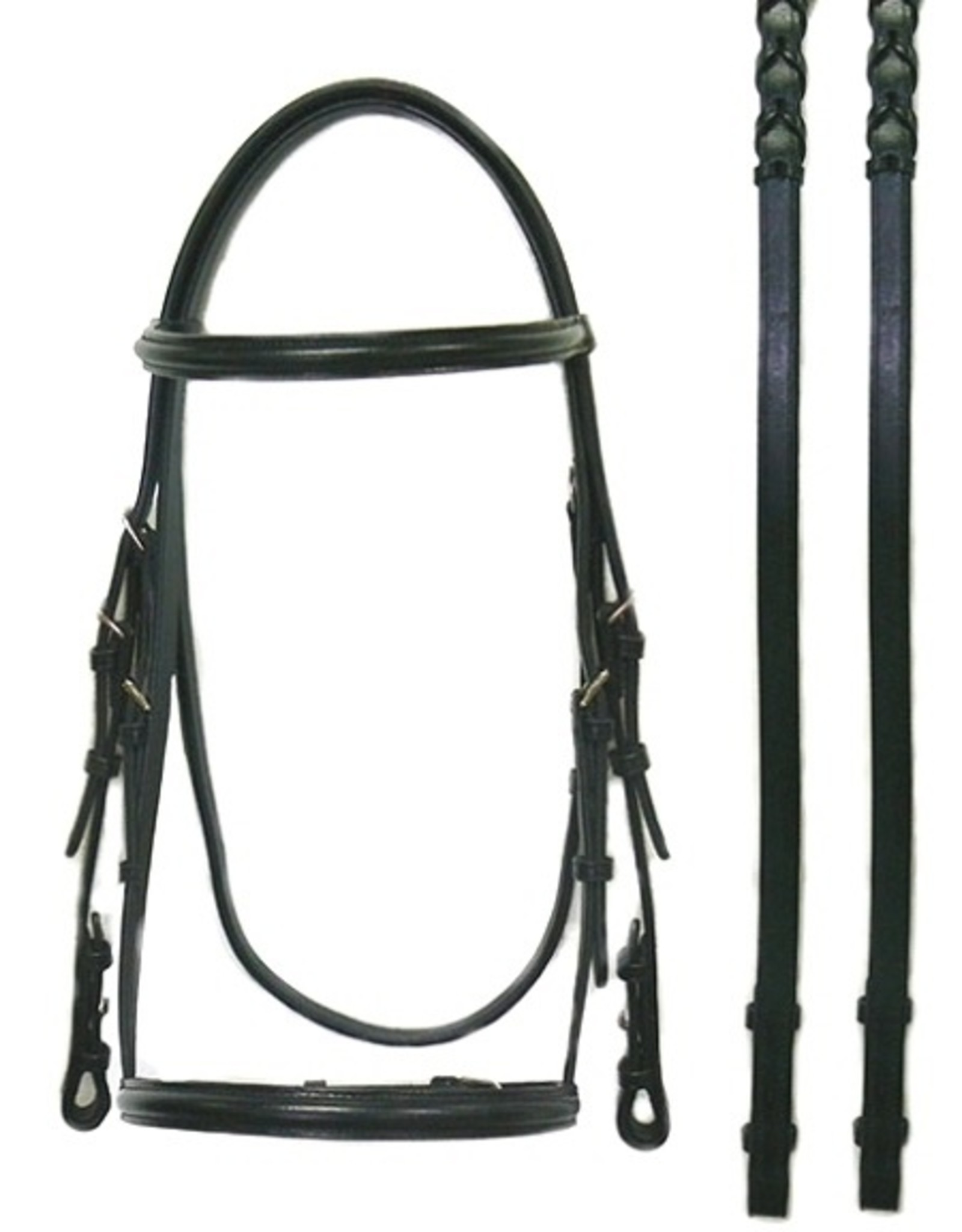 Bobby's Silver Spur Raised Snaffle Bridle