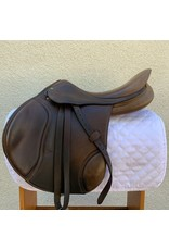 "HDR Close Contact Saddle Havana 17.5"" Medium with leathers, irons and cover"