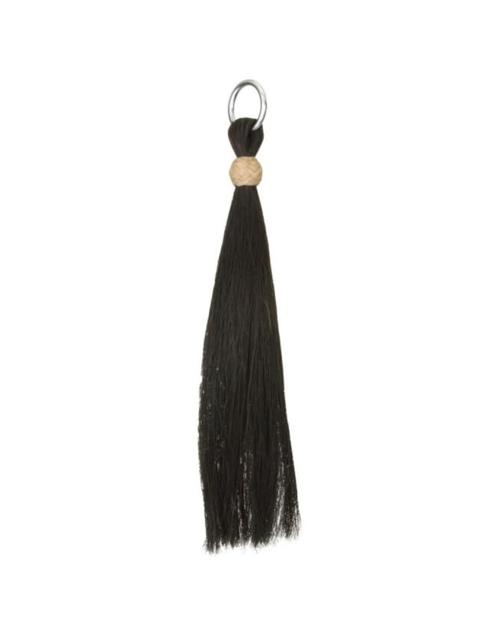 """Shoo Fly Horse Hair Tassel Black 6"""""""