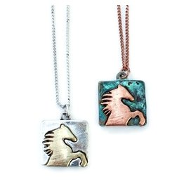 Necklace Wild Horse Patina