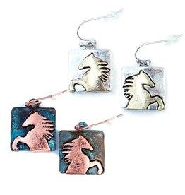 Earrings Wild Horse Earrings Patina
