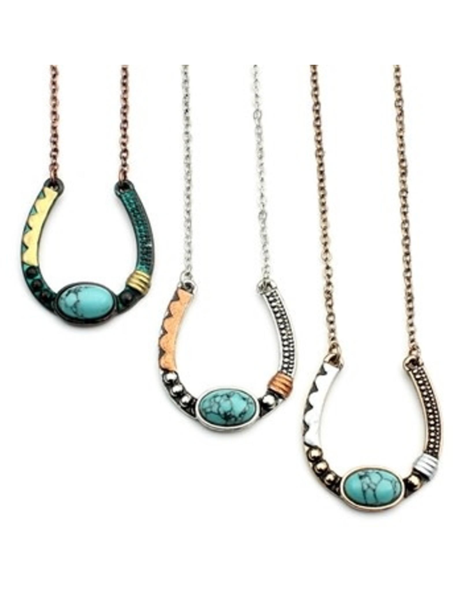 Necklace Artisan Horseshoe Silver